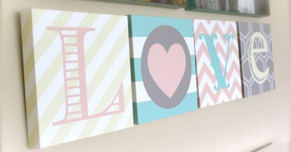 Digital Files. Love letters chevron stripes by PolkaDotsDaisiesLLC