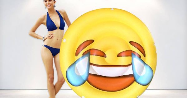 Inflatable Emoji Float Bring It To The Pool And The Beach