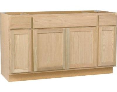 Null assembled in sink base kitchen cabinet in for Assembled kitchen cabinets lowes