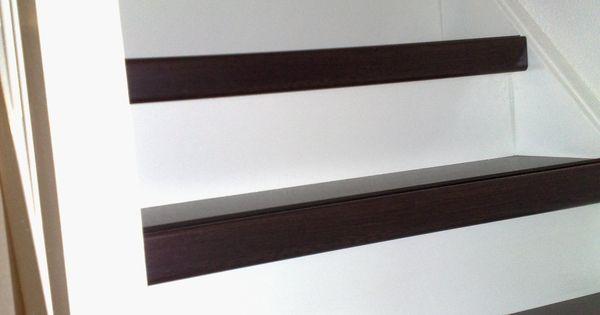 Traprenovatie met antislip strip door natuurlijk hout traprenovaties van natuurlijk hout - Redo houten trap ...