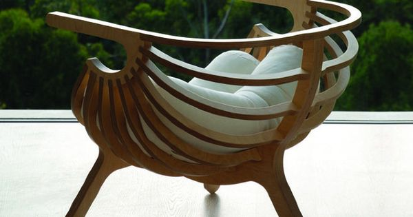 SHELL CHAIR by Branca - or other unique, comfy (with cushions) wooden
