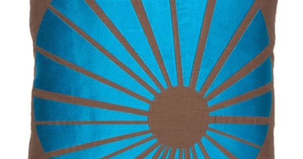 pinned this Sunburst Pillow in Blue from the Trina Turk event at ...