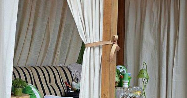 Drop Cloth Curtains Amp Patio Makeover Pinterest Drop