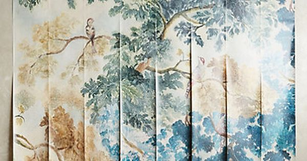 Judarn mural murals anthropologie and side wall for Anthropologie wallpaper mural