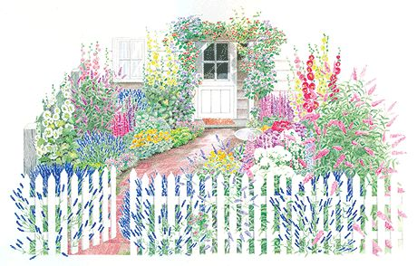16 free garden plans and plant lists you can use at home for Cottage garden design zone 5