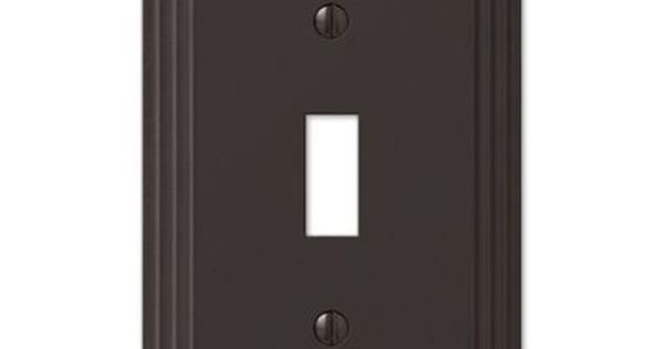 amerelle steps 1gang aged bronze standard toggle metal wall plate home u0026 garden u003e lighting accessories pinterest metals wall plates and bronze