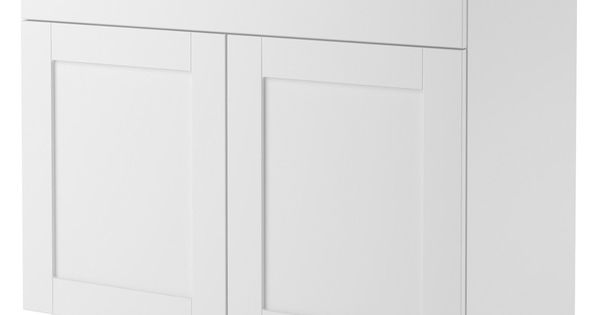 Altra 30 Inch White Shaker Style Bath Vanity Cabinet By Ameriwood Home Shaker Style Bath