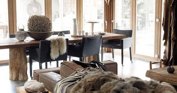 Binnenkijken rustiek huis in wintersfeer bij rotterdam stijlvol styling woonblogstijlvol - Deco eetkamer rustiek ...