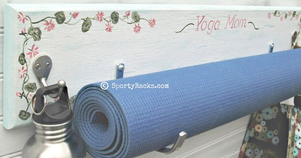 Yoga Exercise Mat Workout Gear Storage Hanger Wall By Sportyracks Sports Room Decor Workout Gear Storage Gym Decor