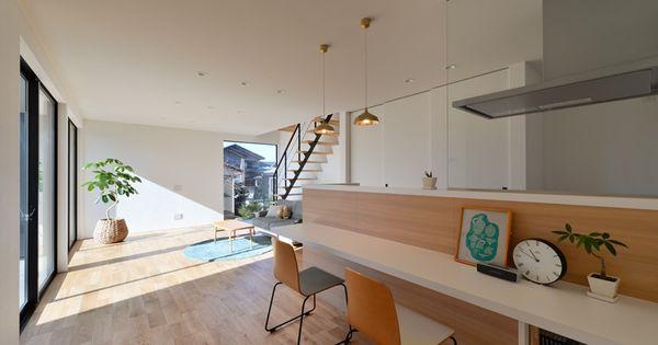 N House 住宅 の施工事例 リビング キッチン 部屋 作り 小さい