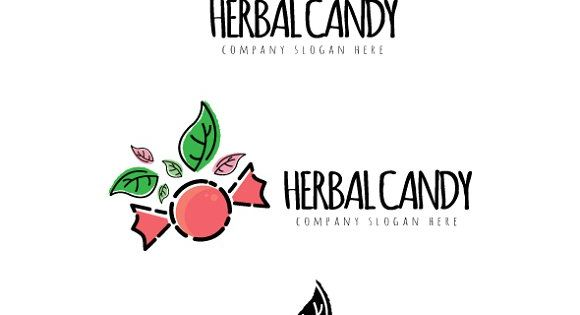 Herbal Candy logo – good for candy store.