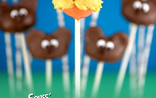 Lorax Cake Pops - So cute! @Brittany Scherbel, I saw you were