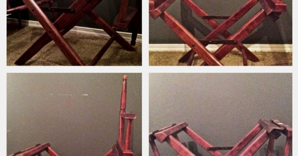 How To Turn A Directors Chair Into A Coffee Table Stolyarnye Raboty Mebel Stul