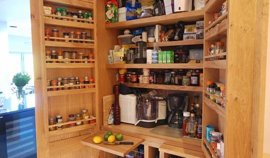 kitchen cabinets uk our handmade larder cupboard with built in spice racks 3276