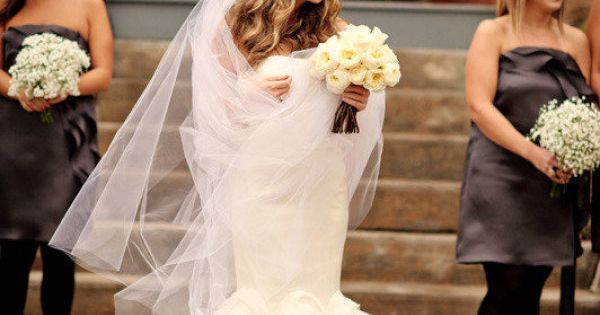 nyc glam wedding veil bride