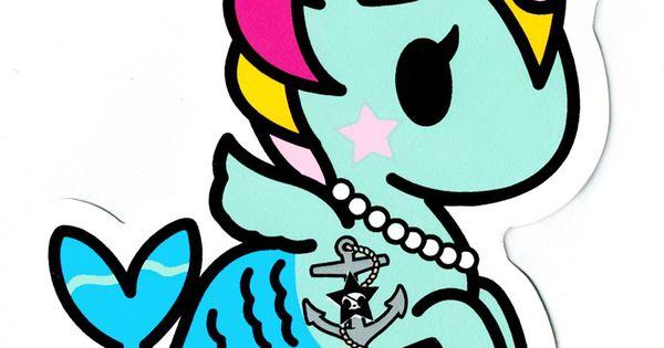 Tokidoki Unicorno Sirena Jumbo Die Cut Glossy Sticker