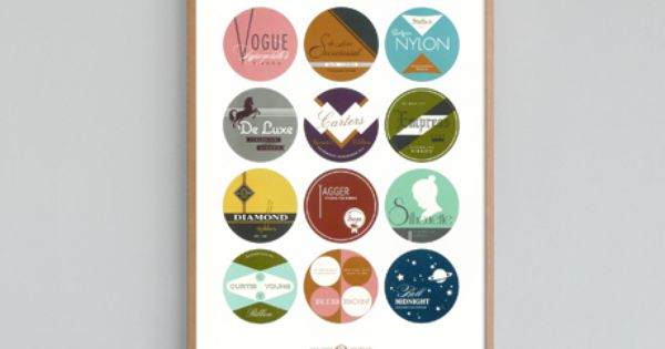 Typewriter Ribbon Tins Print by present and correct. Love it! Illustration Art