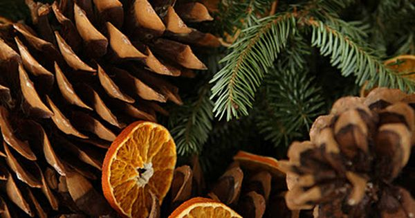 beautiful all natural Christmas decorations (DIY ALERT: Dry orange slices by cutting