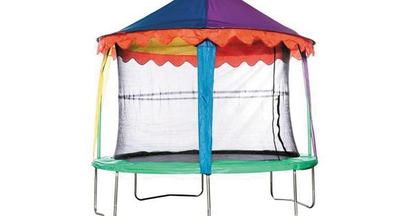 Air Bounder 10ft Trampoline Circus Tent Canopy All Round Fun Trampoline Tent Backyard Canopy Canopy Outdoor