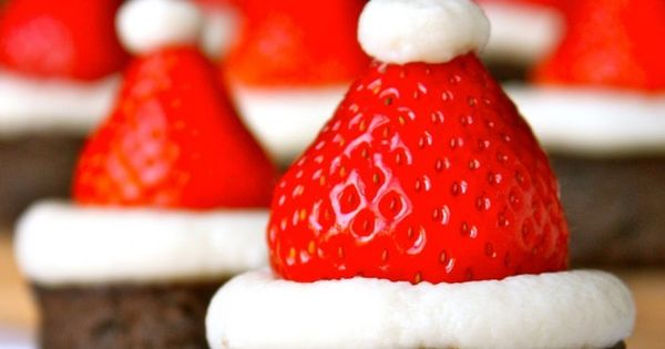 strawberry santa hat Aren't these Santa Hat Brownies just so cute? Thanks