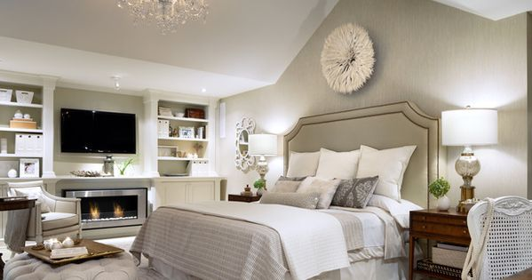 CABECERA, PUFF, COLORES White on White Bedroom by Candice Olson