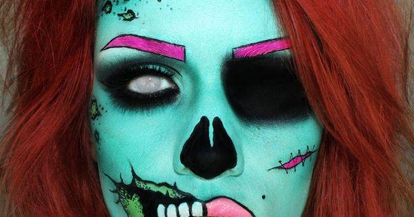 Loving this dead girl makeup idea, so creative!! | See more about Makeup Ideas, Creative and Makeup.