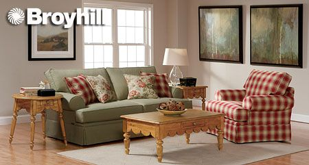 Country Plaid Living Room Furniture Grq Used