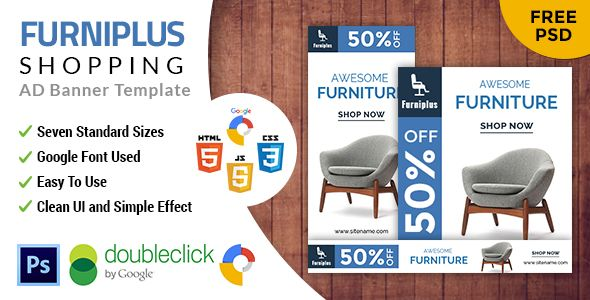 Furniplus | Furniture HTML 5 Animated Google Banner | Google ...