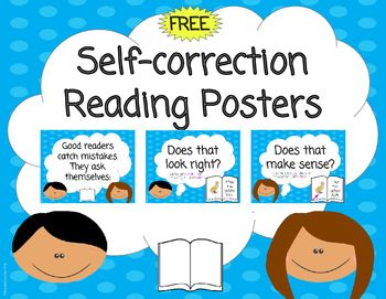 Free Self Correction Reading Posters Reading Posters Explanation Writing Reading Recovery