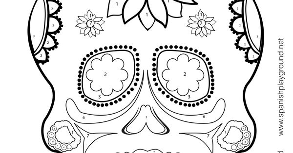calavera catrina coloring pages - photo#32