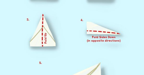 paper plane instructions for kids