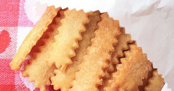 Pie Fries: Cut pie crust into strips w/ fluted pastry wheel. Brush