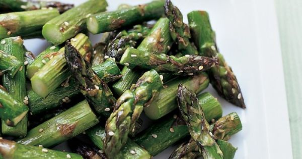 Roasted Sesame Asparagus Recipe | Martha Stewart