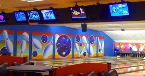 Bowling Alley Mural Wall Graphics Bowling Bowling Alley