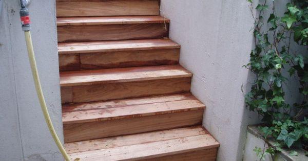 Faire Un Escalier En Teck Fsc Pour Recouvrir Escalier Existant Escalier Escalier Bois Escalier Exterieur
