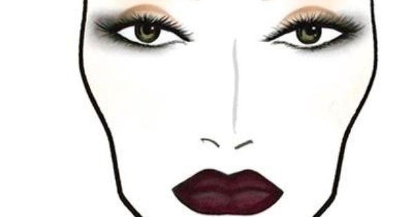 Face Chart High Fashion Glamour Makeup Face Charts Face Chart Makeup Charts