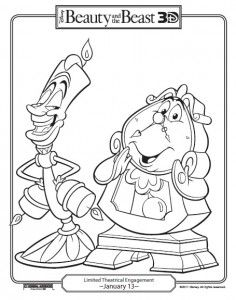 beauty and the beast free printable coloring pages