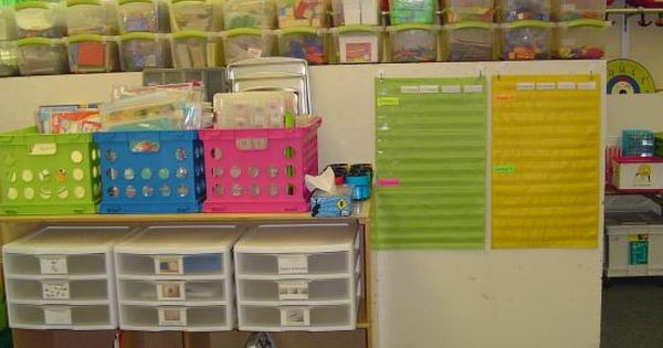 Great organization ideas, math tubs, and listening