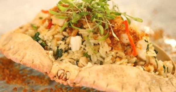 Scallop And Dried Shrimp Fried Rice With Crab Recipe Food Network Recipes Crab Recipes Shrimp Fried Rice