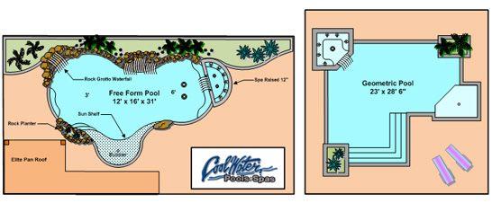Swimming Pool Blueprints Designs