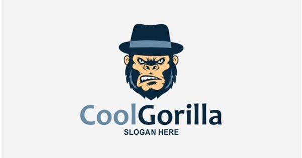 Cool Gorilla Logo – Color, Black, Reverse version included