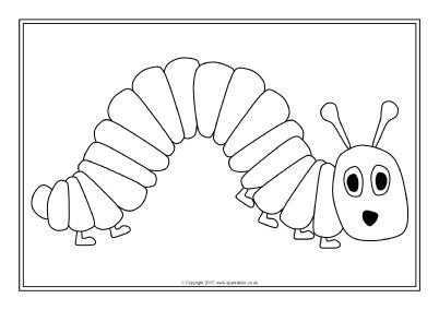 Hungry Caterpillar Colouring Sheets Sb11906 Sparklebox Voorjaar