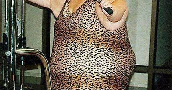 Ugly clothes for women | ... gym - Fat woman exercising at the gym wearing funny leopard clothes ...