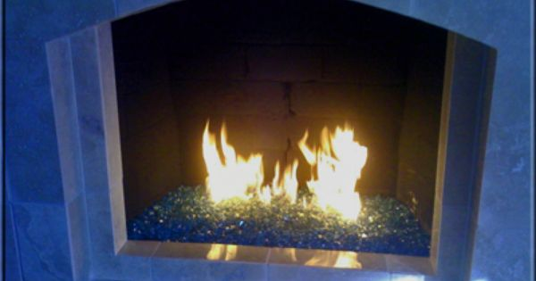 Gas Firepits With Blue Glass Bing Images Fire Glass Fireplace