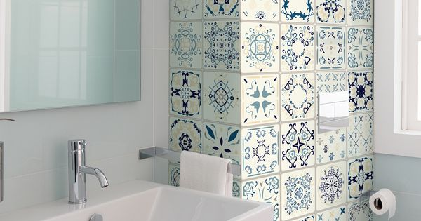 60 Stickers Carrelages Azulejos Arsenio Design De Salle De Bain Idee Salle De Bain Salle De Bain