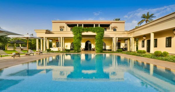 Villa Sj Marrakech Luxury Property In A Private Estate In The Palmeraie Of Marrakech Six Ensuite Bedrooms Heated Out Villa Marrakech Outdoor Swimming Pool
