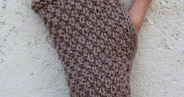 Kit a tricoter mitaines au point de bl kits a tricoter pour les mains 1ou2mailles - Point de ble au tricot ...