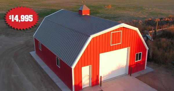 Building b23397 sentinel buildings barns pinterest Gambrel garage kit
