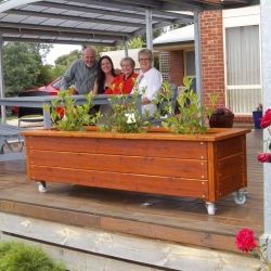 Garden Bed On Wheels Take That Shady Spots Garden Beds Movable Garden Beds Raised Garden Beds
