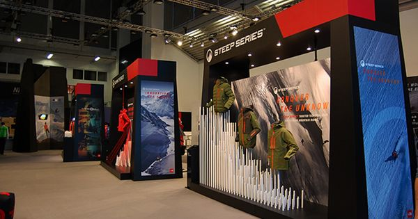 The north face stand on ispo munich 2014 by international for Green room retail design